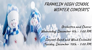 Franklin High School Winter Concerts - Dec 4, Dec 10