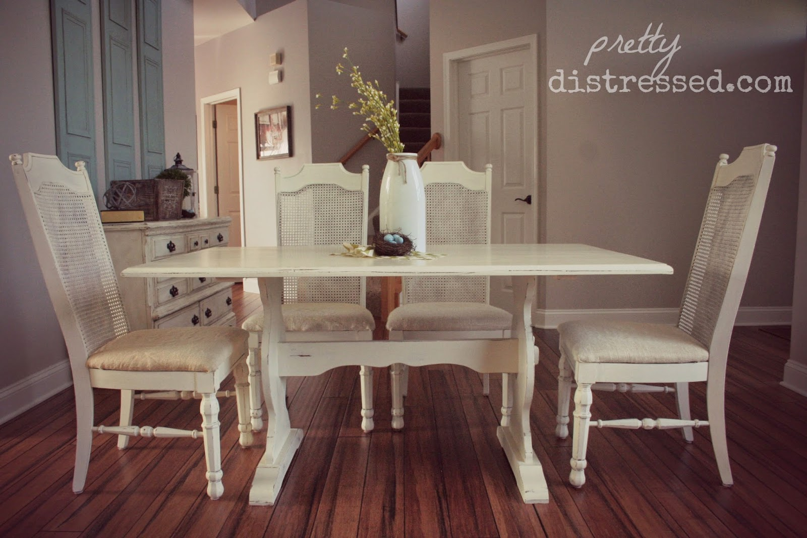 using polycrylic sealer with chalk paint white distressed kitchen table Painted kitchen table white kitchen table