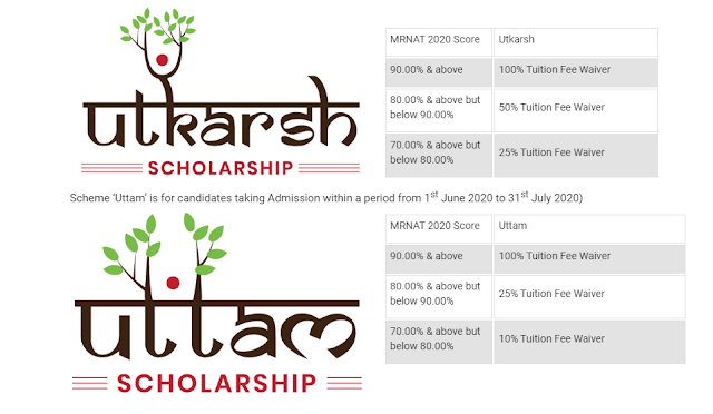 Scheme 'Utkarsh' UG & PG Scholarship on the Basis of MRNAT'2020: