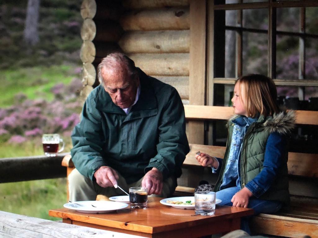 The Duke of Edinburgh with Mia Tindall