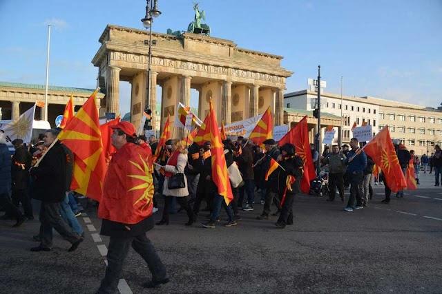 Mazedonier protestieren am Sonntag in Deutschland gegen Namensänderung