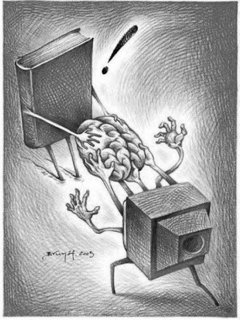 beyninizi geri alın karikatür