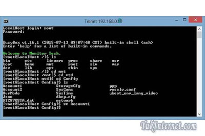 reset password cctv dengan telnet 5