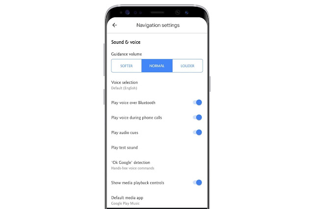 Navigation Settings On Google Maps