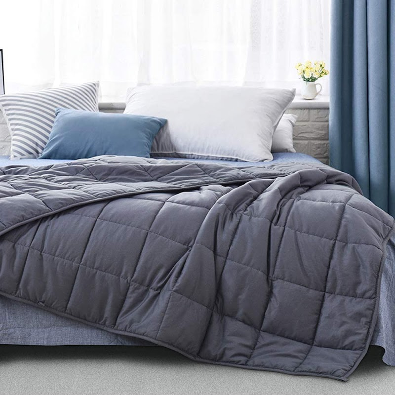 40% OFF 12 lbs 100% Eco-Friendly Cotton Weighted Blanket for Better Sleep & Relaxing