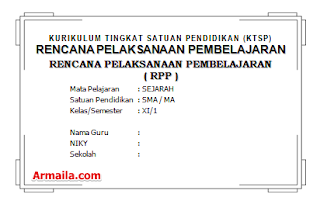 Download RPP KTSP Sejarah Kelas XI IPS SMA