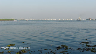 View of Kochi city from Vypin