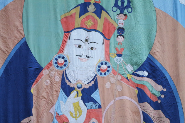 Guru Rinpoche Thangka that the public gets to see once every 12 years