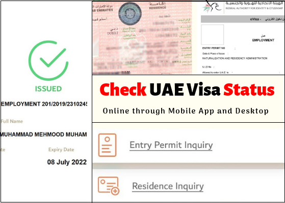 Dubai visa status check by passport number