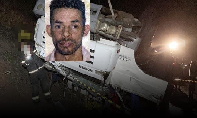 Bahia: Motorista morre em acidente com caminhão carregado de tinta na BR-101, nesta noite