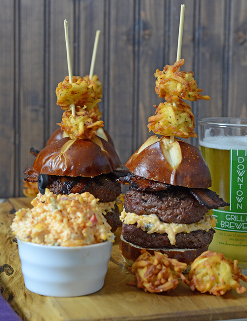 pub style sliders burger at home