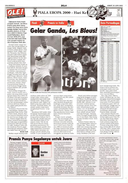 FINAL EURO 2000 PRANCIS VS ITALIA GELAR GANDA, LES BLUES