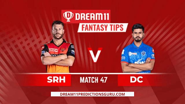 srh vs DC Dream11 ipl 2020 Tips and Predictions