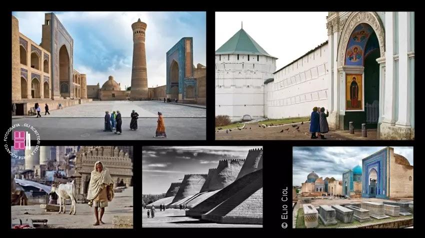 La Madrasa di Mir-i-Arab - Il monastero di Zagorsk - Varanasi - Il Palazzo di pietra di Khiva - Shah-i-Zinda