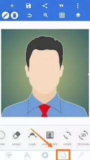 photo for govt. Job apply