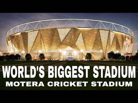World's biggest cricket stadium sardar Patel stadium motera