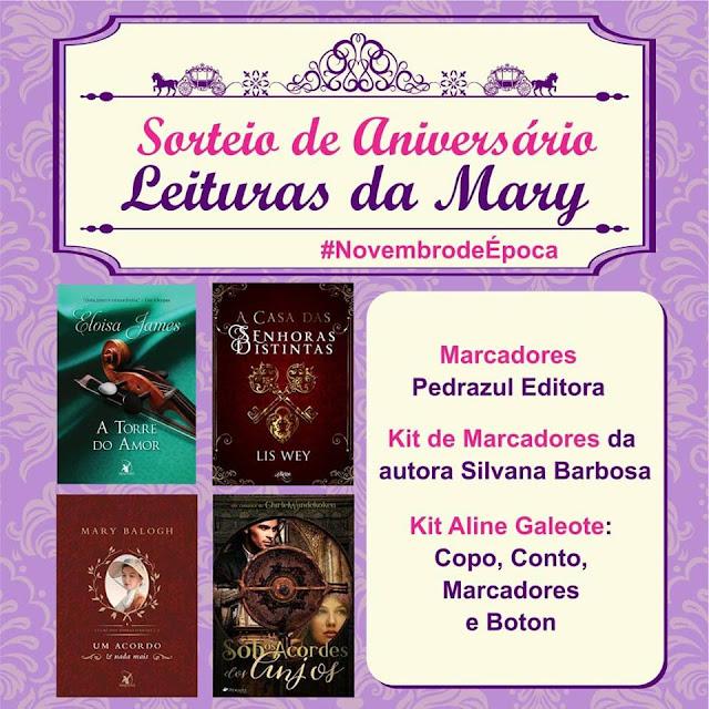 Sorteio de Aniversário Leituras da Mary