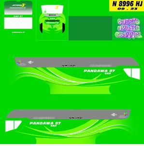 download livery pandawa 87 srikandi shd bussid