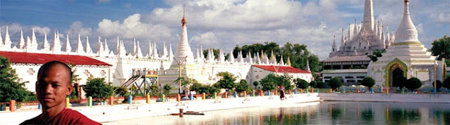 Burma pagoda and temples in Mandalay