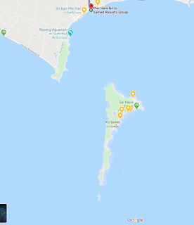 Google Map of Samet Island, Koh Samet