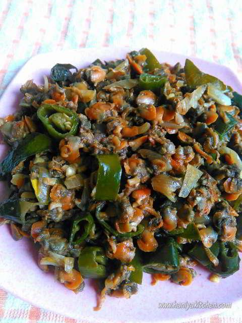 resep tumis kerang cabai hijau