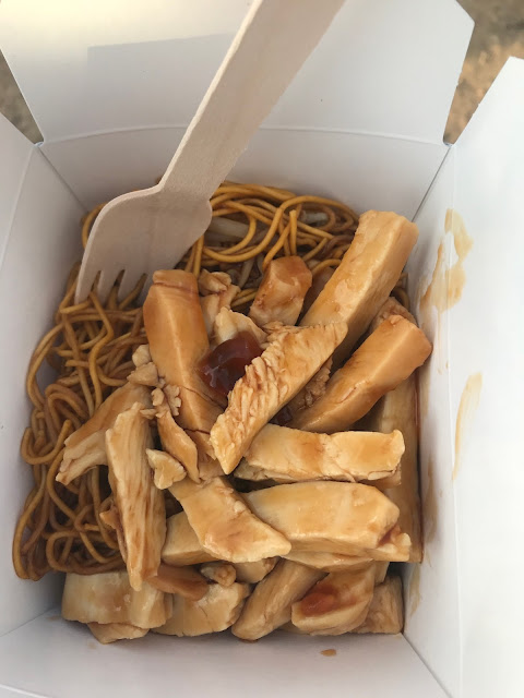 Leeds Festival 2018 what we ate - chicken noodles