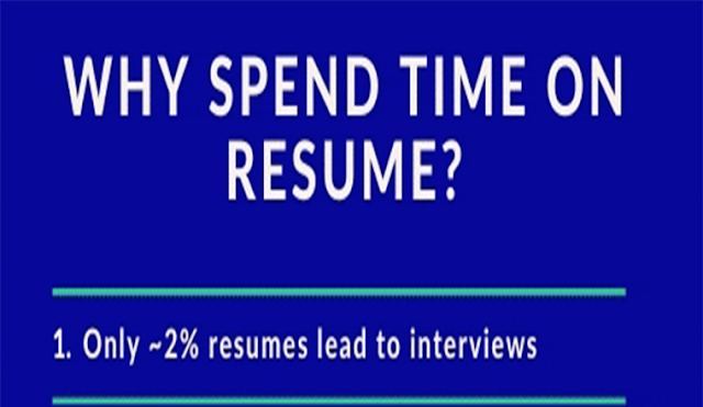 Why spend precious time creating resume? #infographic