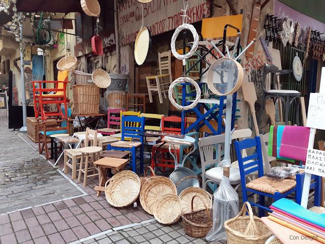 כלים מעץ בשוק סלוניקי