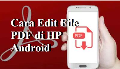 Cara Edit File PDF di HP Android