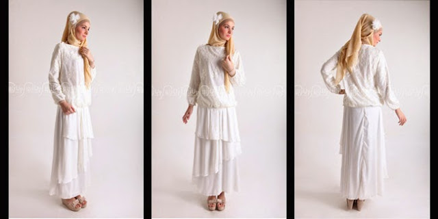 Dress Muslim Pesta Modern 2015