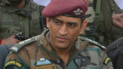 Mahendra Sing Dhoni , lieutenant colonel, Parachute Regiment, Territorial Army