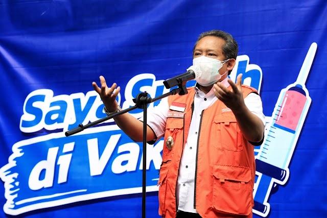 Penanganan Covid-19, PMI Kota Bandung Dapat Bantuan Dari PTPN VIII : APD dan Hazmat