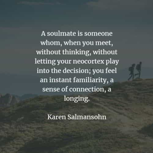 Soulmate quotes with inspiring thoughts of love