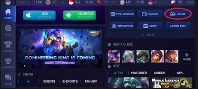 Mobile Legends codexchange, inilah cara Redeem Mobile Legends terbaru