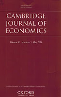 coperta revistă Cambridge Journal of Economics