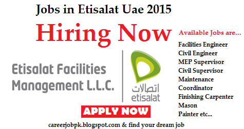 Jobs in Etisalat Dubai Uae