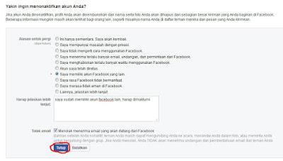 cara menonaktifkan facebook