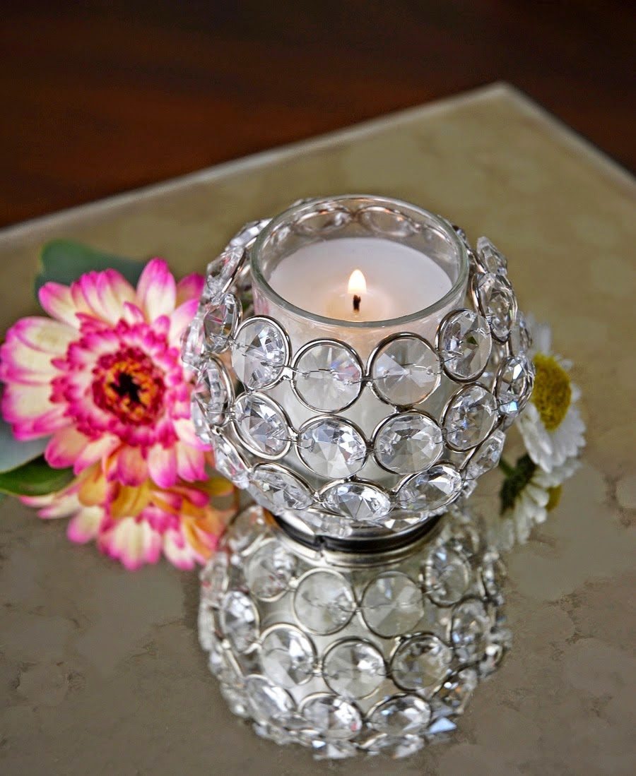 Round Crystal Ball Votive €5