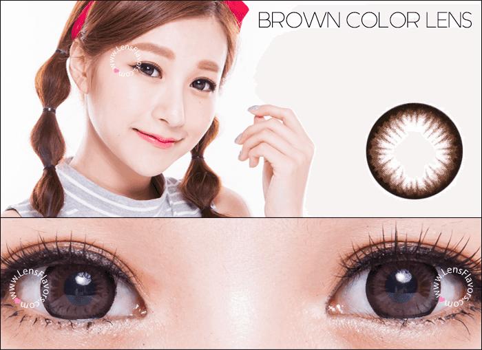 geo princess mimi almond brown circle lenses