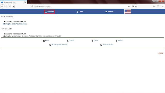 Jika belum logout,  Sobat tinggal klik opsi  Account.