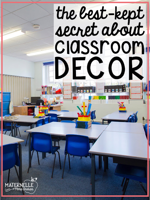 Looking for a simple way to save space in your French primary classroom this year? Check out this blog post and discover the best-kept classroom decor secret!