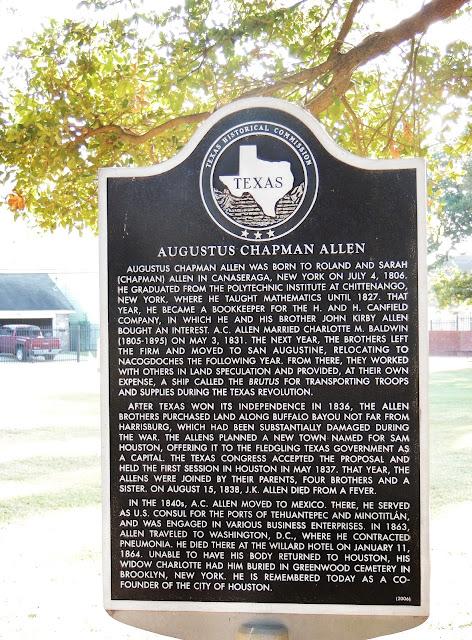 Augustus Chapman Allen (Texas Historical Commission Marker)