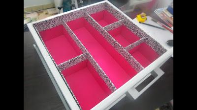 Divisor de gavetas de papelão