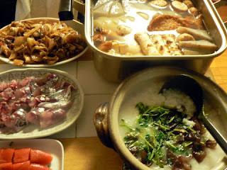 鶏おでん 牛すじ炒め アジ焼き 明太子 豆苗炒め入りおかゆ