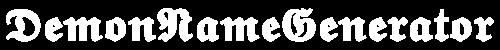 Demon Name Generator Logo