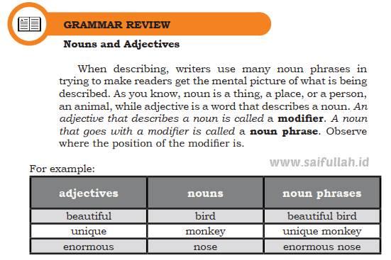 Pembahasan Materi Bahasa Inggris Chapter 4 Hal 61-62 Kelas 10 (Grammar Review)