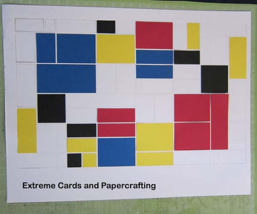 Mondrian tri-shutter pop up card cut outs