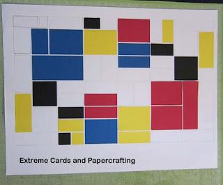 Mondrian tri-shutter pop up card cut outs