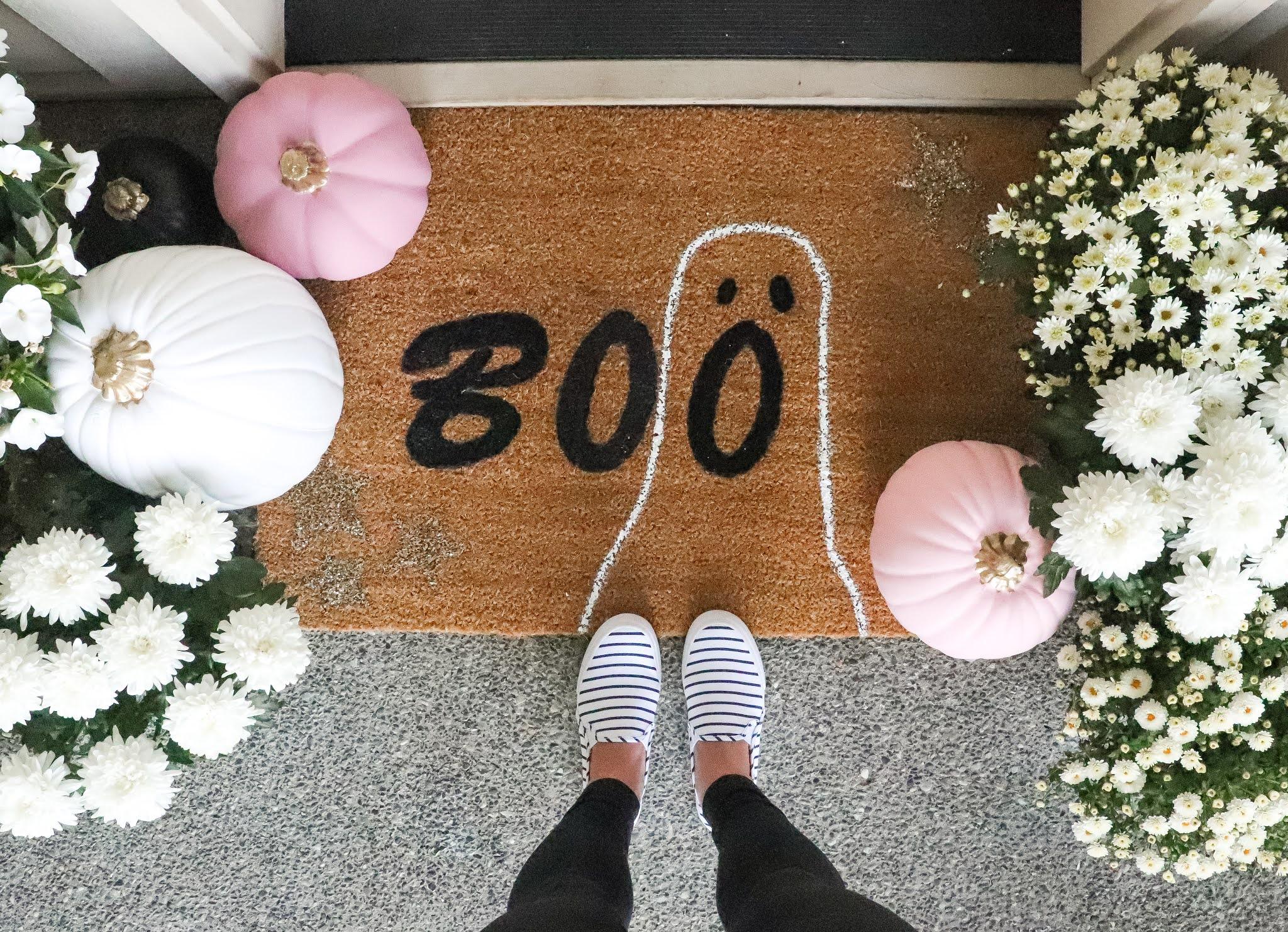 DIY door mat boo