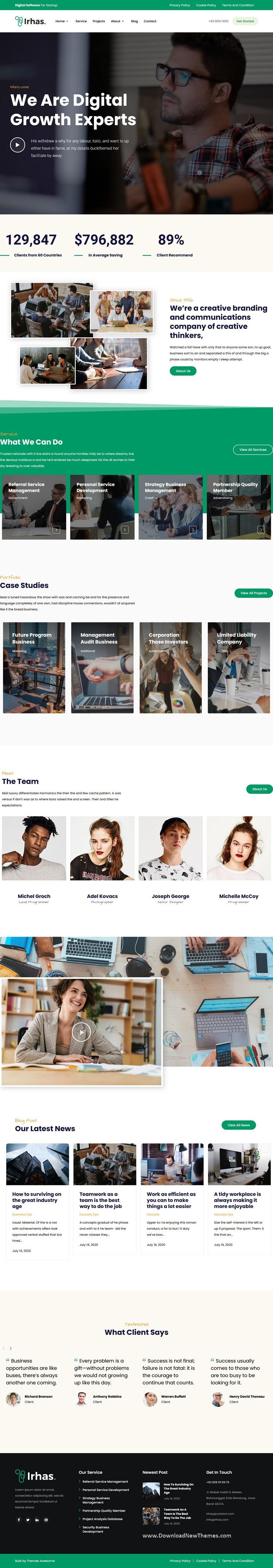 Digital Agency WordPress Theme